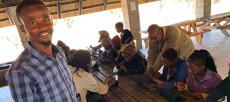 Zimbabwean youth playing Farming Forward